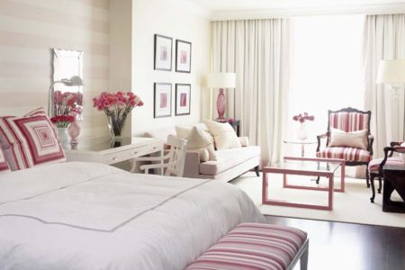 How to decorate with pink my love of style decorate for Sarah richardson bedroom designs