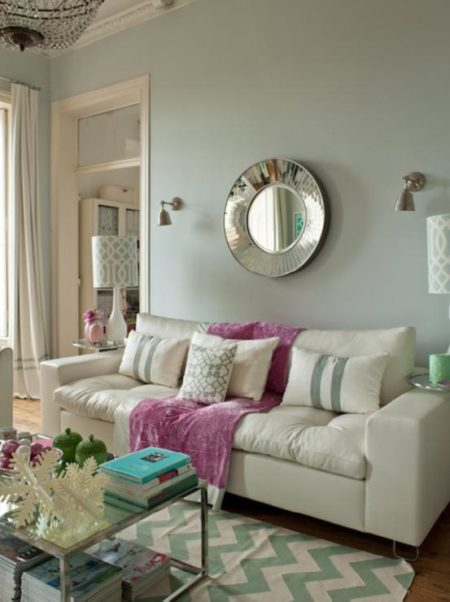 Light pink living room ideas color grey and pink on for Love room decor