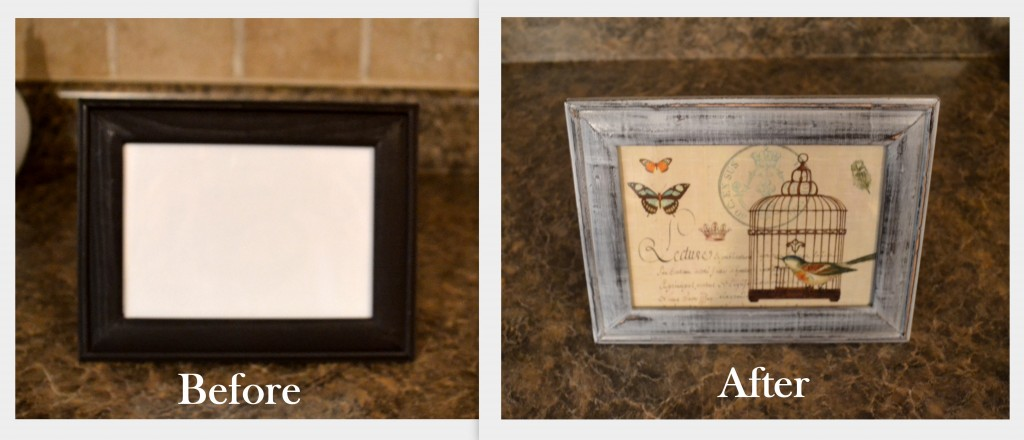 DIY Distressed Pic frame BEFORE AND AFTER 1 1024x440 DIY Distressed Picture Frame