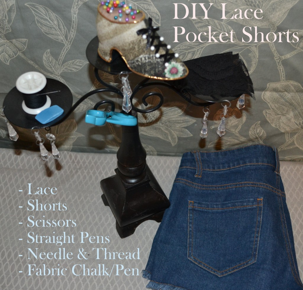 Materials DIY Lace Pocket Shorts 1024x979 DIY Lace Pocket Tutorial