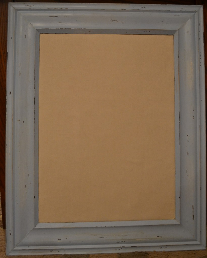 DIY Distressed Cork Board 820x1024 DIY Framed Cork Board