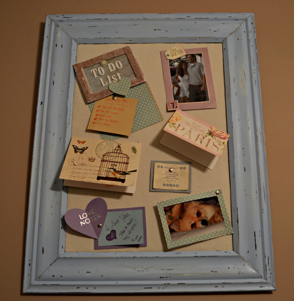 DIY Distressed Cork Board from Crown Moulding 1002x1024 DIY Framed Cork Board