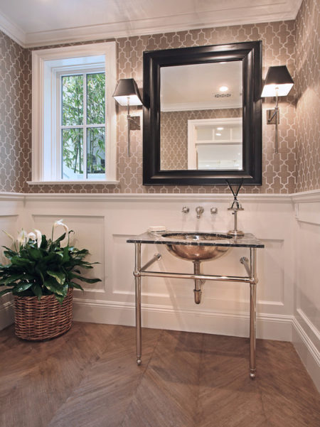 Geometric Wallpaper in Bathroom 2012 Wallpaper Trends