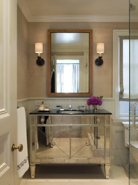 Grasscloth Powder room 2012 Wallpaper Trends