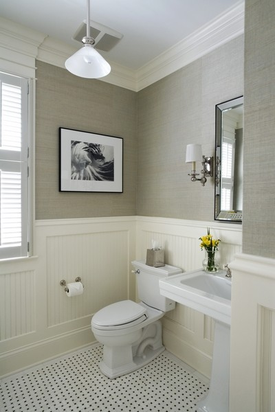 Grasscloth bathroom 2012 Wallpaper Trends