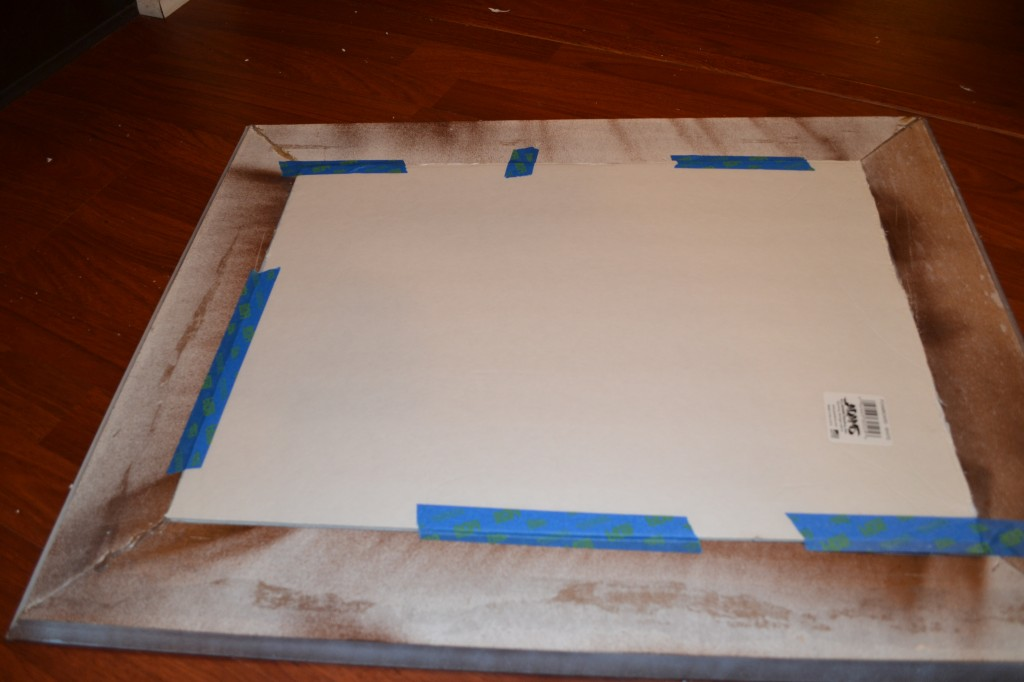 Measure and cut the foam so it fits inside of the frame 1024x682 DIY Framed Cork Board