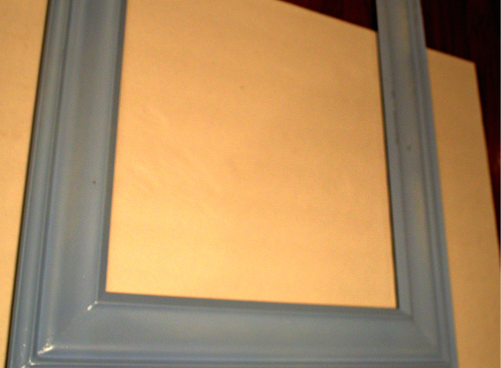 Paint the top color DIY Framed Cork Board