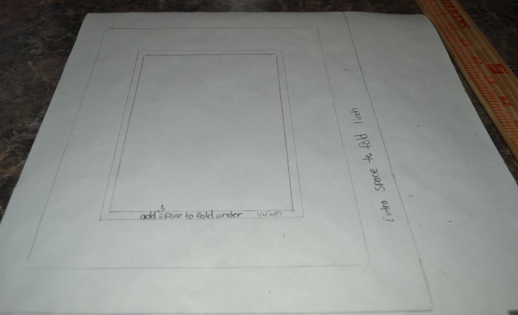 add extra space for fold 1024x623 Mod Podge Picture Frame