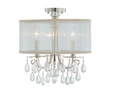 light fixture for shabby chic foyer makeover my love of style my. Black Bedroom Furniture Sets. Home Design Ideas