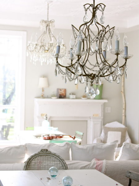 Incredible Shabby & Chic Living Room Chandelier 550 x 734 · 88 kB · jpeg