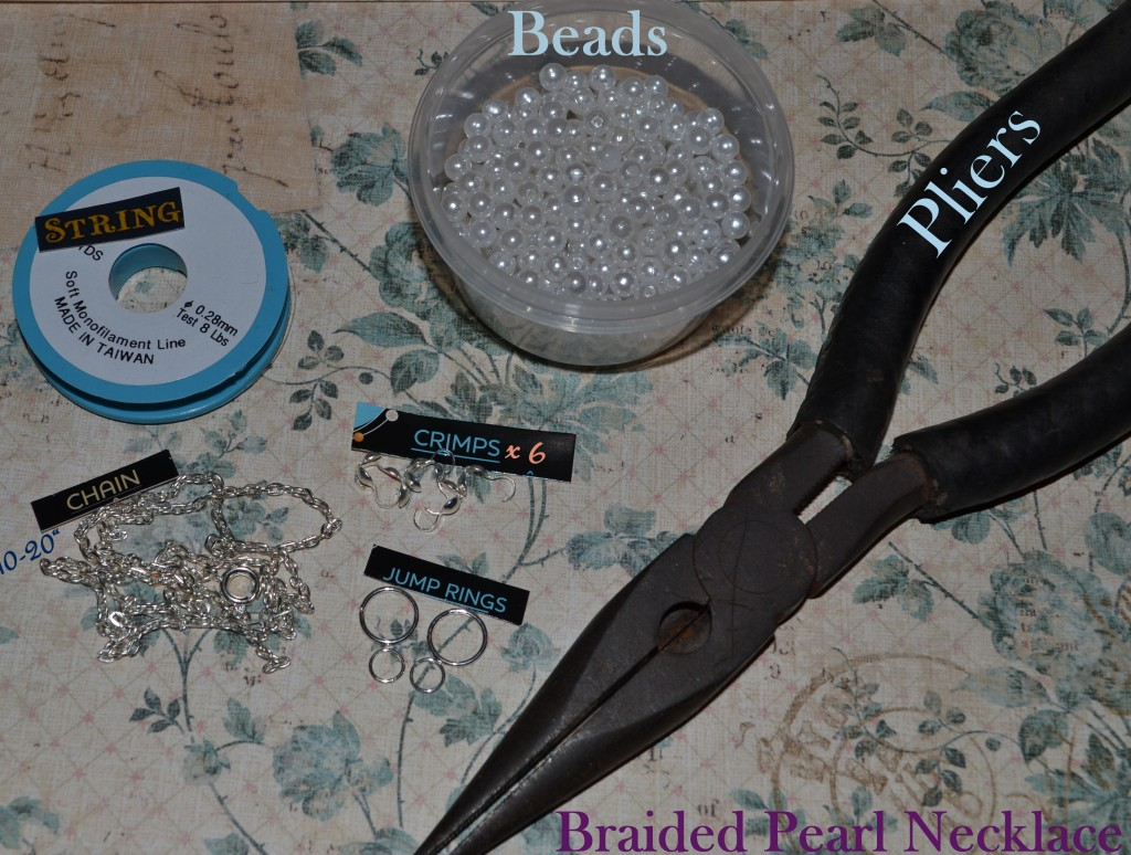 """""""Braided Pearl Necklace Tutorial"""""""