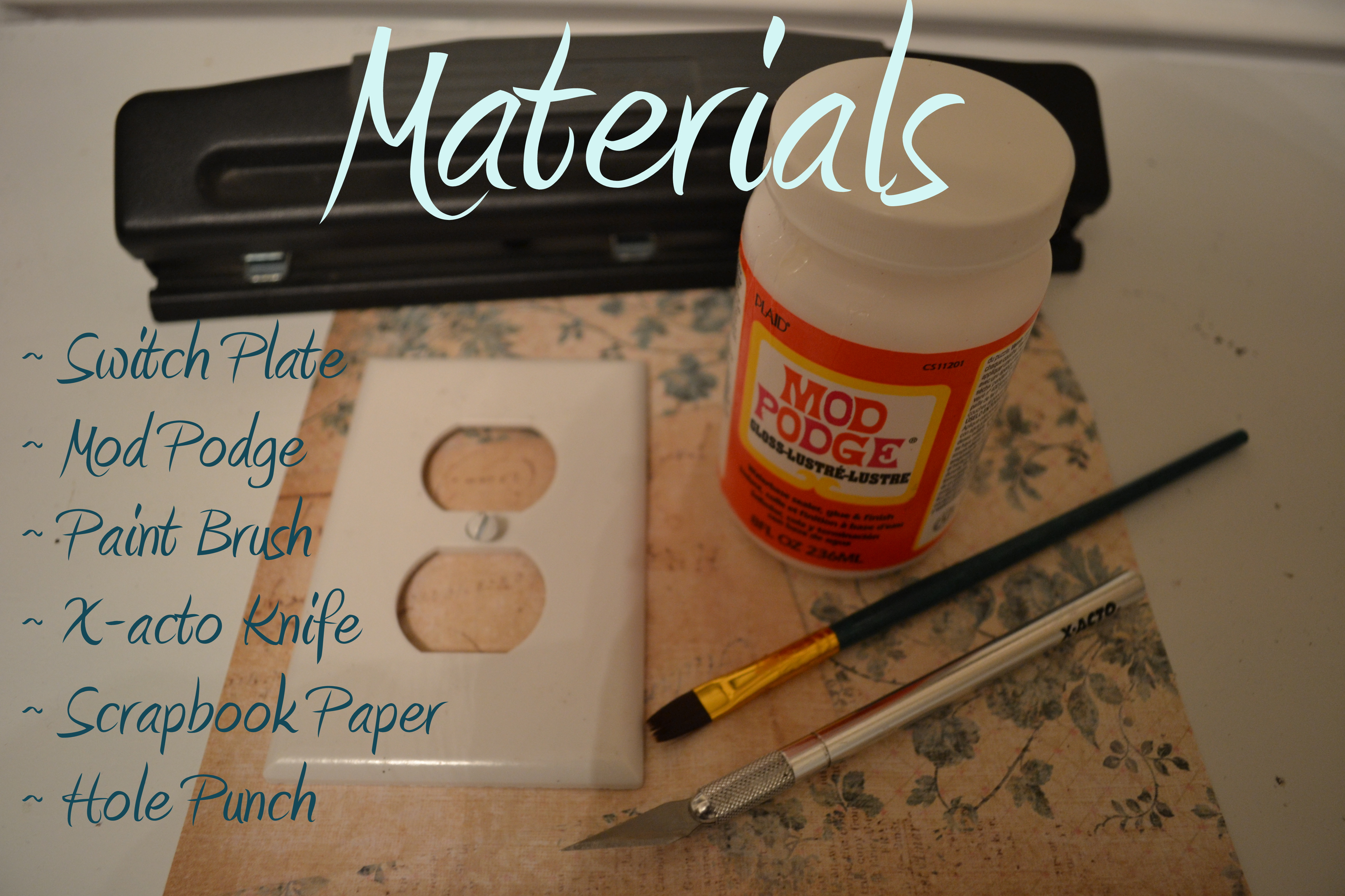 Light switch plate covers decorative - Diy Switch Plate Materials