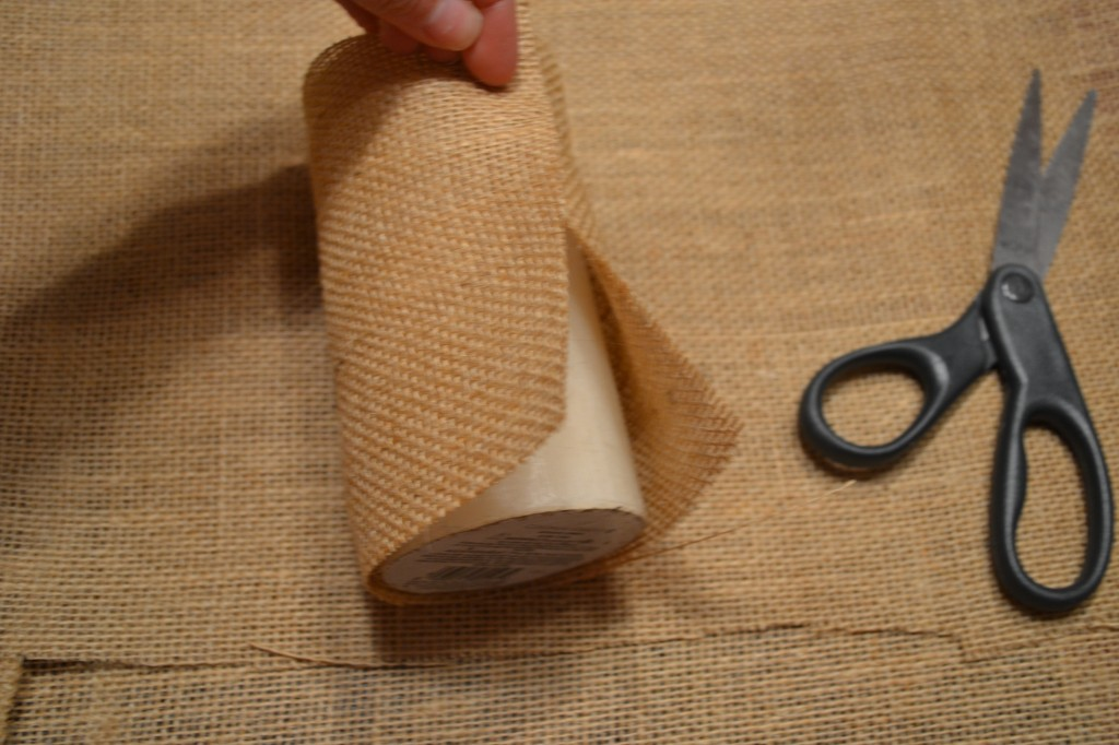 wrap piece of burlap and cut excess to get perfect fit 1024x682 DIY Pottery Barn Burlap Candle