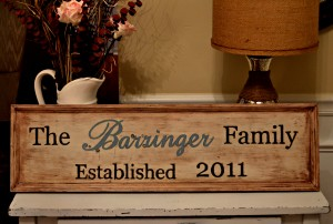 DIY Wooden Family Sign 1 300x202 DIY Wooden Family Sign