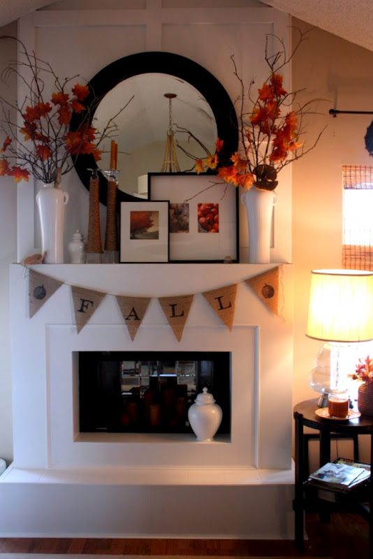 Fall Pennant banner Fall Mantle Inspirations
