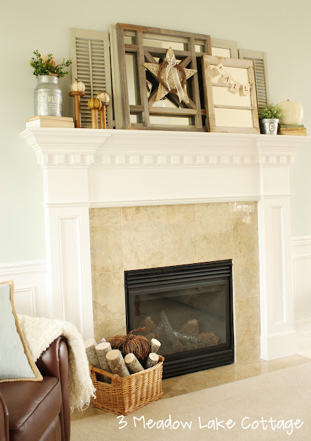 fall mantel6 Fall Mantle Inspirations