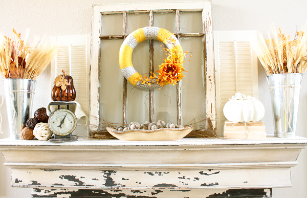 fall mantle decorchic Fall Mantle Inspirations