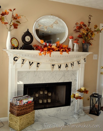 fall mantle the frugal homemaker Fall Mantle Inspirations