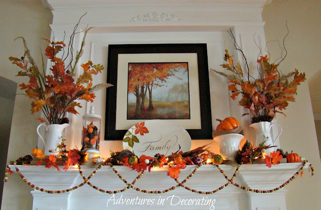 fallmantel adventures in decorating Fall Mantle Inspirations