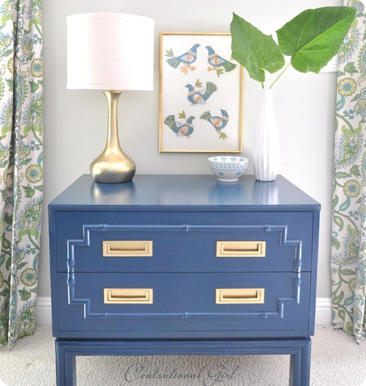 olympian blue side table Fall Color Report: Olympian Blue