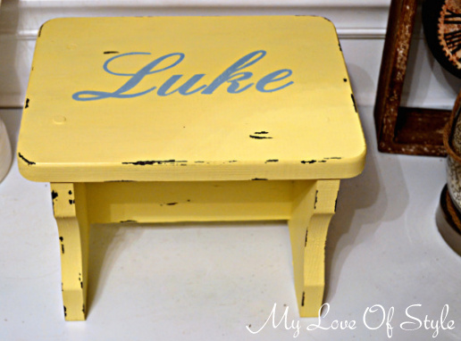personalized stool Personalized Vintage Step Stool Tutorial