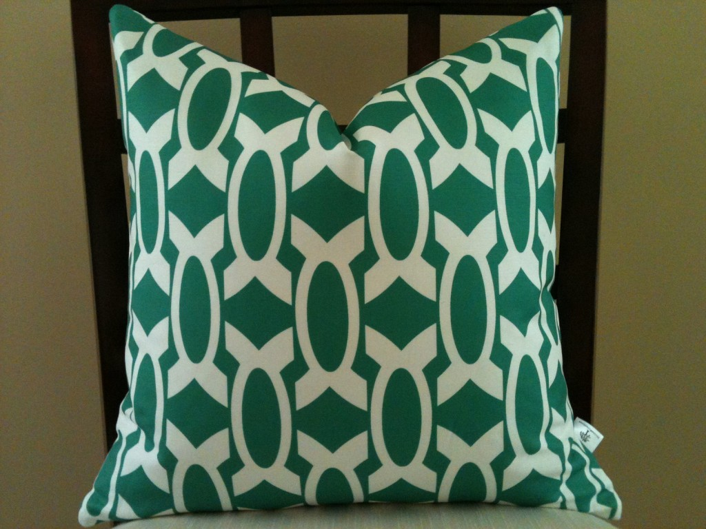 """Ultramarine green pillow"""