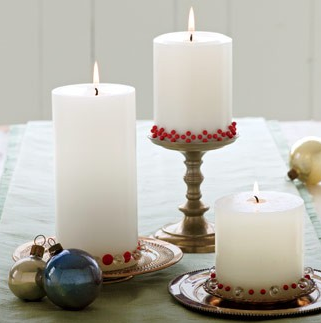 """""""Decorate Candles with Upholstery Tacks"""""""