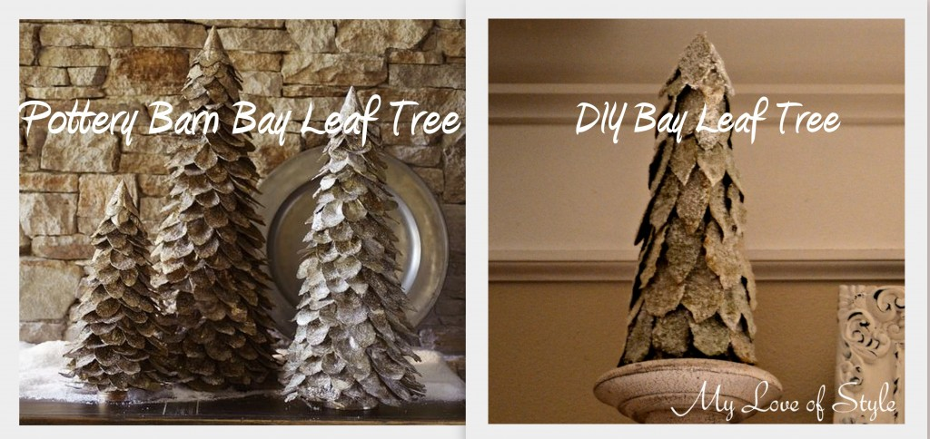 Frosted Bayleaf Tree1 1024x484 Pottery Barn Inspired Bay Leaf Tree