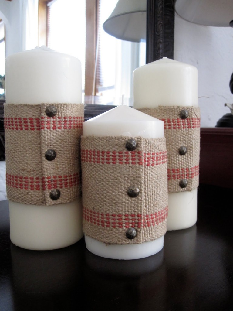 """""""Upholstery Tacks to decorate Candles"""