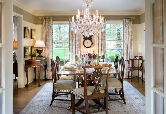 elegant dining room1 Decorating Style Series: Classic Traditional