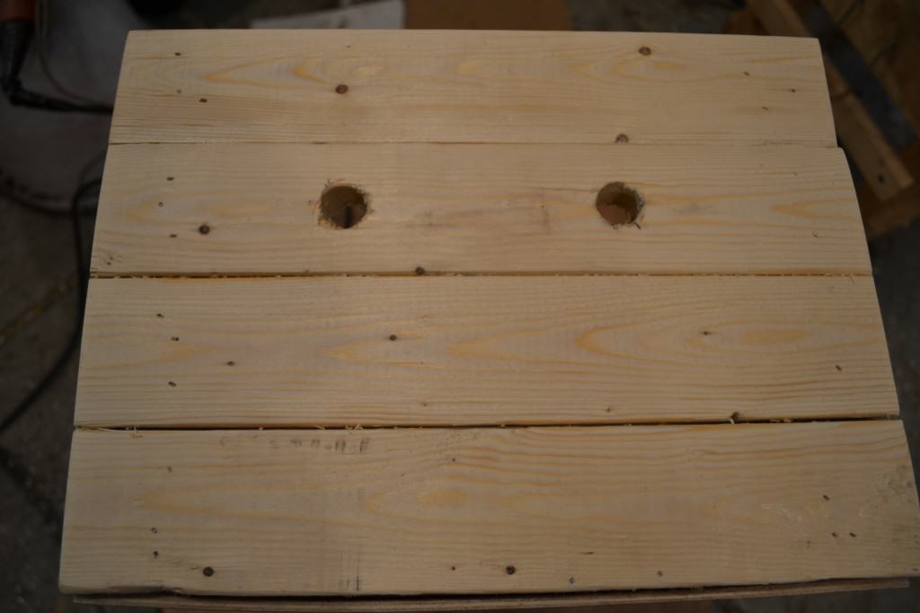 holes for handle 1024x682 DIY Wooden Crate