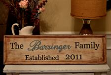 Wooden Family Sign Tutorial