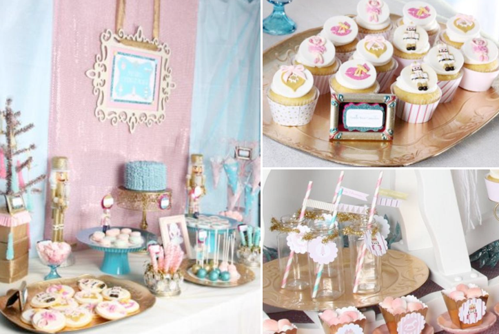 Nutcracker Ballet Themed Christmas Party Ideas via www.KarasPartyIdeas.com How to Create a DIY Candy Buffet