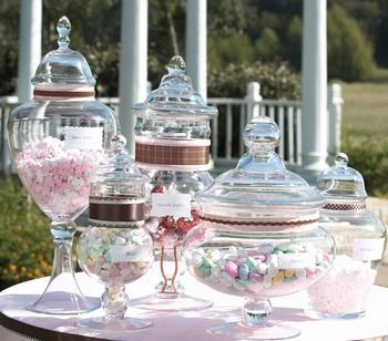 apothecary jars candy buffet jars How to Create a Candy Buffet