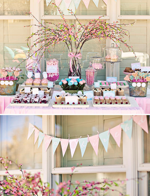 flowergarden birthdayparty 1 How to Create a Candy Buffet