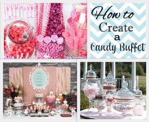how to create a candy buffet 300x246 How to Create a DIY Candy Buffet