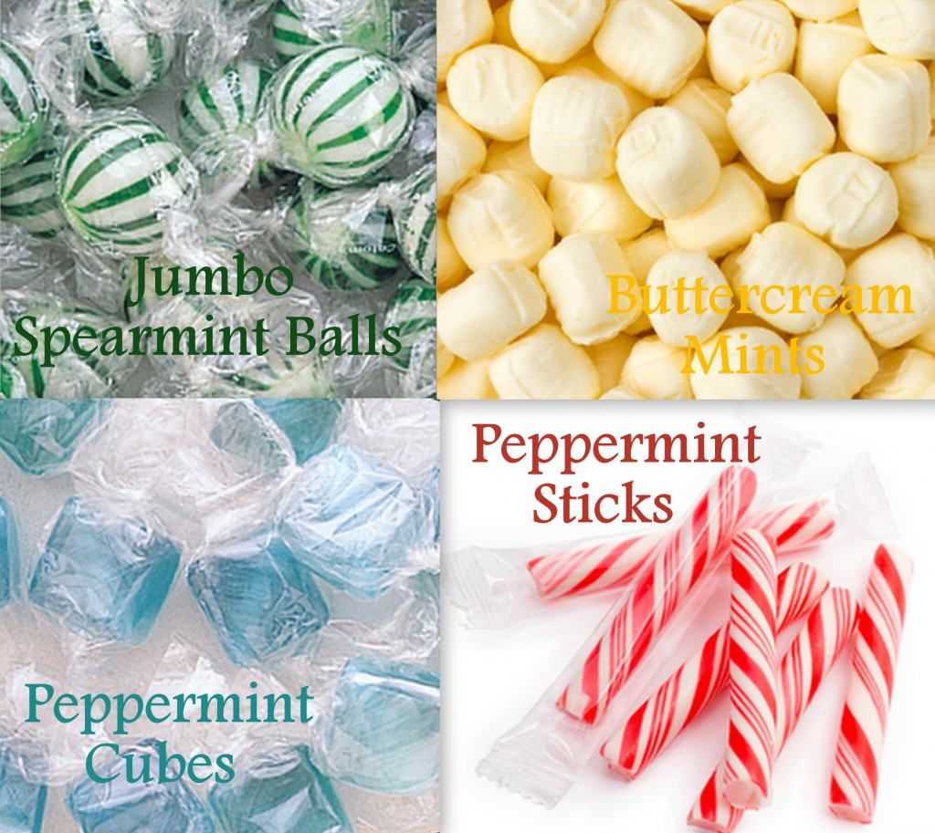 mint types 1024x913 How to Create a Candy Buffet