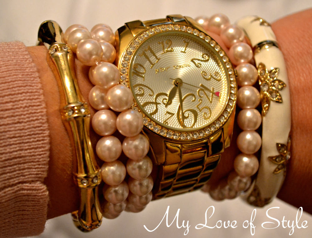 """""""Pearl and Gold Arm Candy"""""""