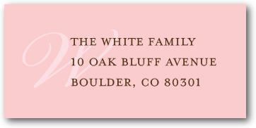 """Perfume Vintage Monogram Address Labels"""