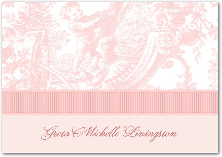 """Chenille Lovely Toile Thank You Card"""