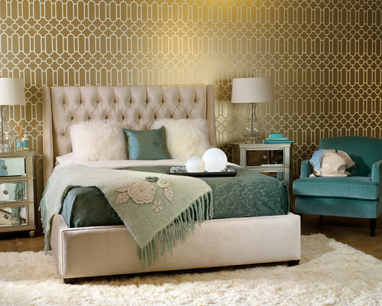 Hollywood Regency Bedroom Decorating Style Series: Hollywood Regency