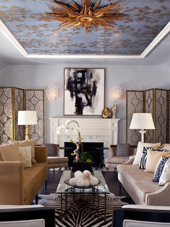 Hollywood Regency Living Room1 Decorating Style Series: Hollywood Regency