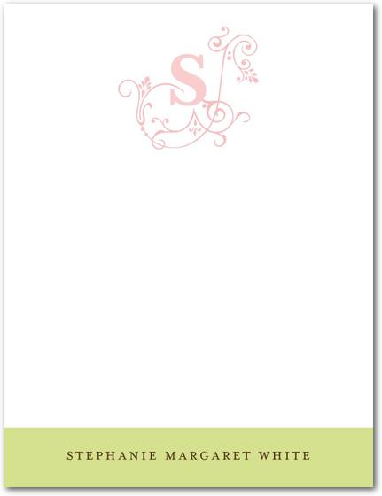 """Perfume Vintage Monogram Thank You Cards"""