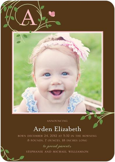 """Tiny Butterfly Birth Announcement"""
