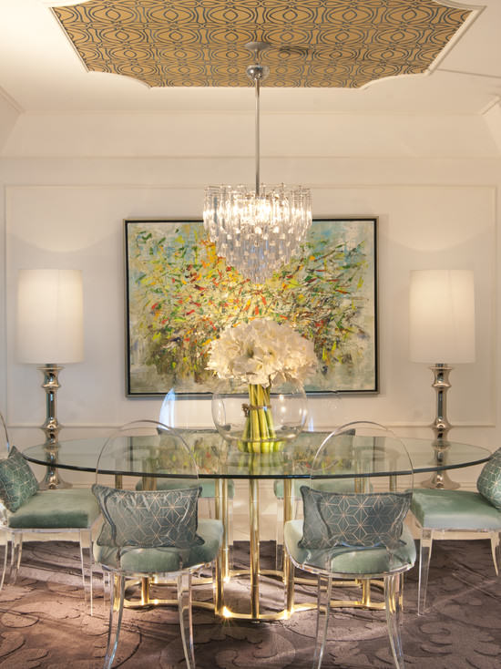 old hollywood dining room Decorating Style Series: Hollywood Regency