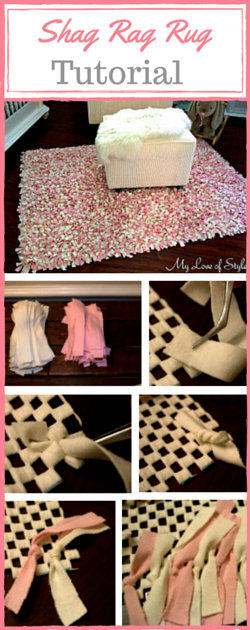 Easy Step by Step DIY Shag Rag Rug Tutorial