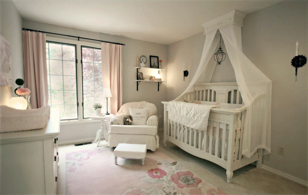 Bed crown and crib canopy inspirations my love of style for Drapes over crib