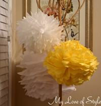 DIY Hanging Tissue Balls