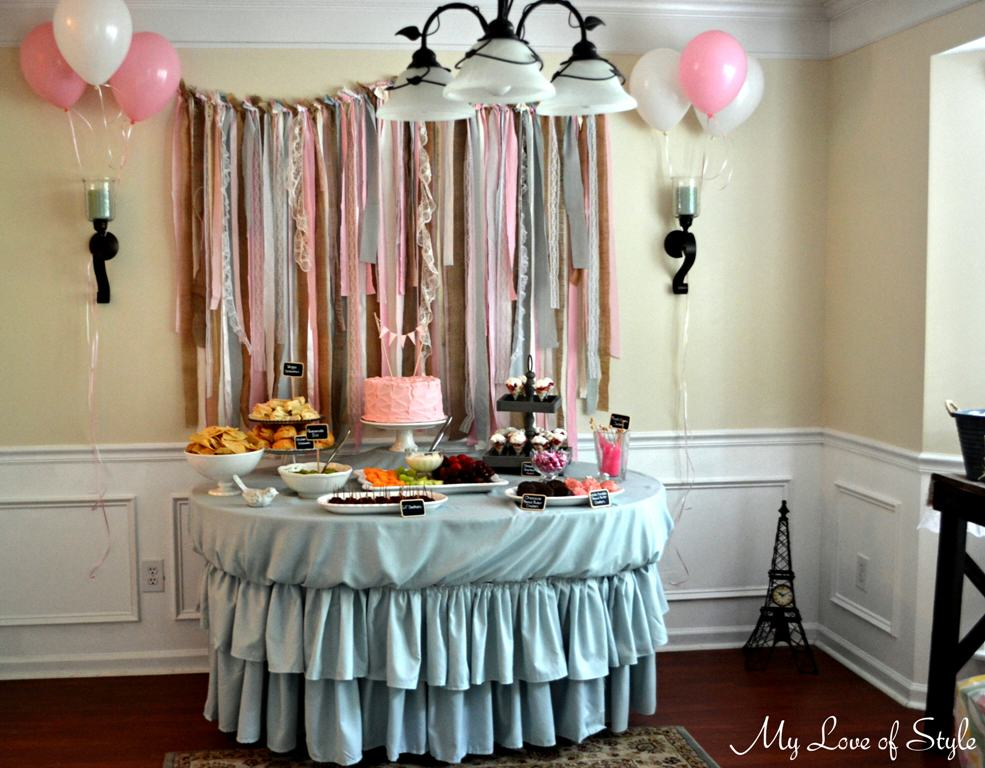 Shabby Chic Baby Shower | My Love of Style – My Love of Style