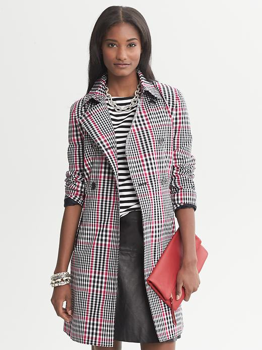 Banana Republic Plaid Trench